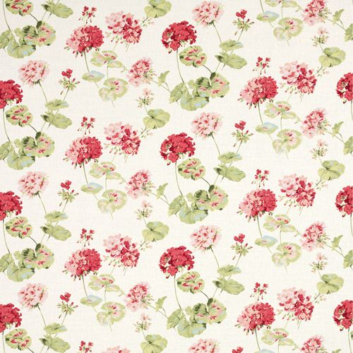 Laura Ashley Furniture Usa: Laura Ashley Geranium Cranberry Floral Fabric