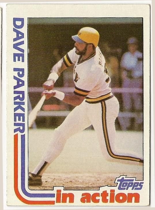 Dave Parker In Action Baseball Card 41 Baseball Cards