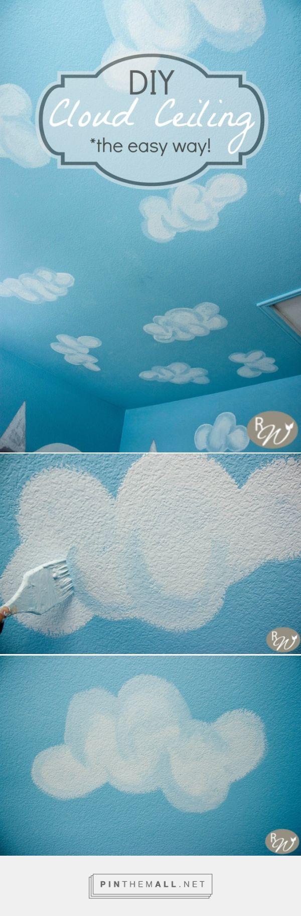 DIY Cloud Ceilingthe easy way Cloud ceiling, Clouds