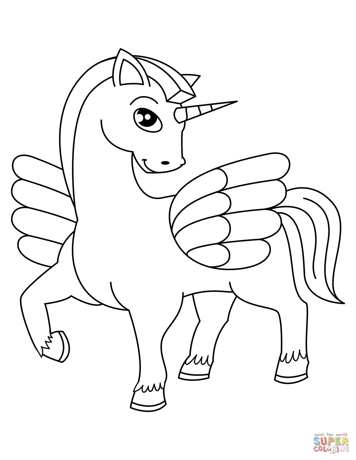 Unicorn Coloring Sheet Pdf Unicorn Coloring Pages Free Coloring