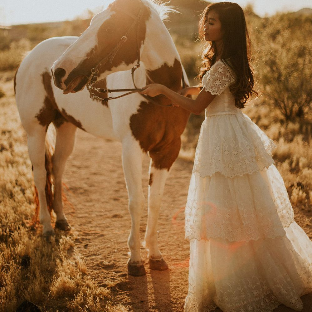 Ivory wedding dresses with sleeves  Tiered Wedding Dress  Products  Pinterest  Products