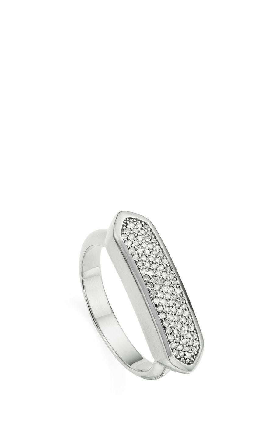 Baja Diamond Ring, Sterling Silver Monica Vinader