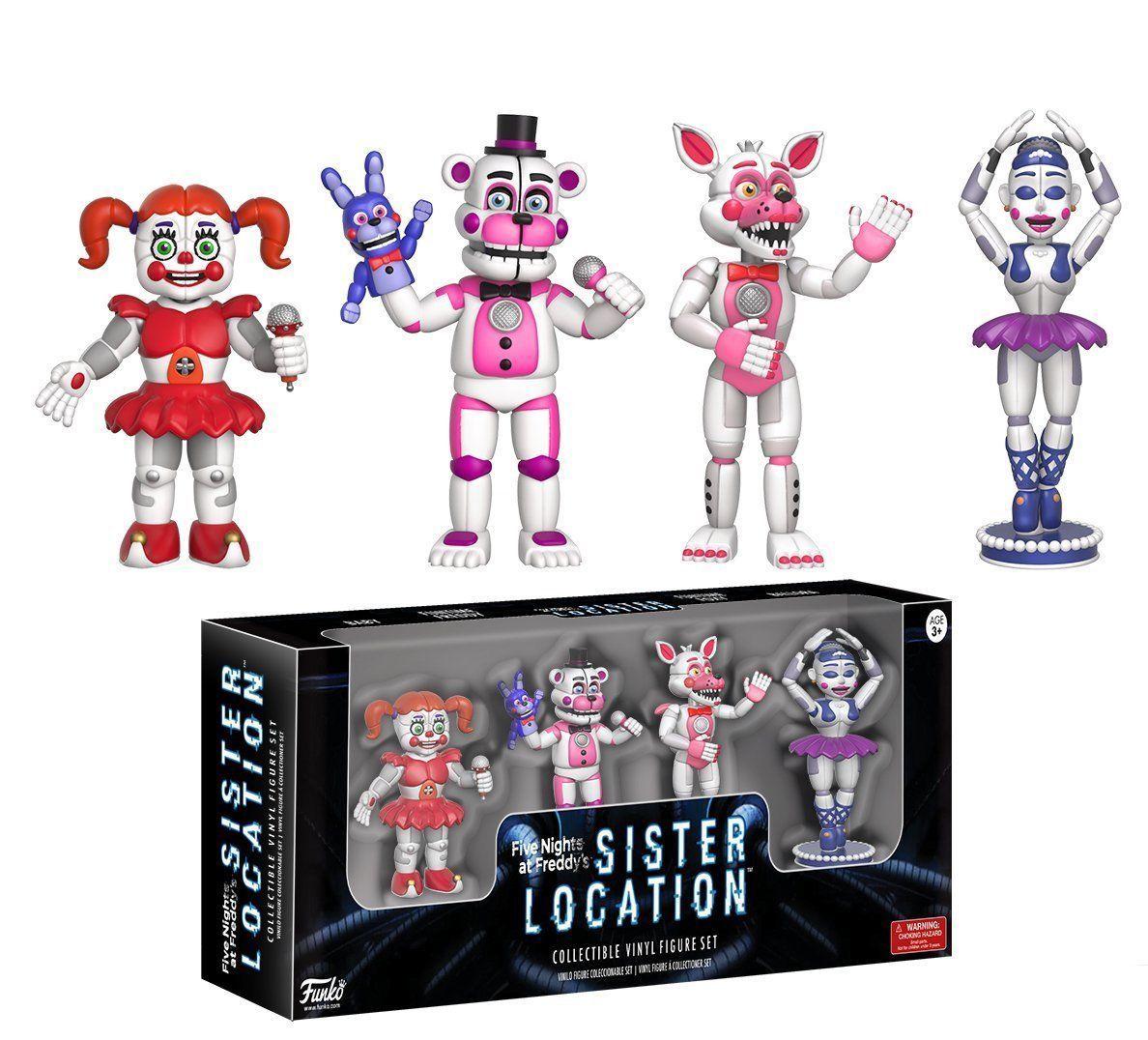 1313 Funko Five Nights At Freddys Sister Location 4 Pack Set 2 Bott Pop Fnaf Freddy Vinyl Action Figures Ebay Collectibles
