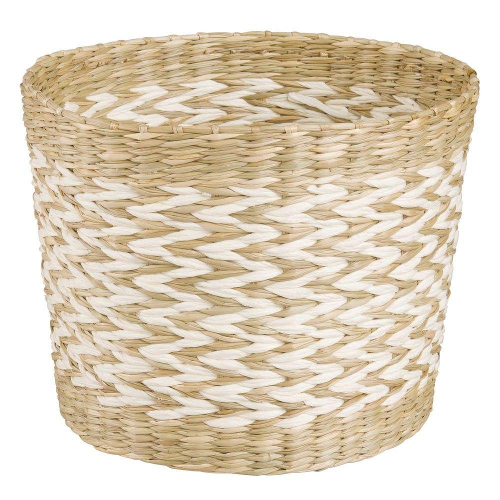 cache pot en fibre vgtale blanche h13 maisons du monde