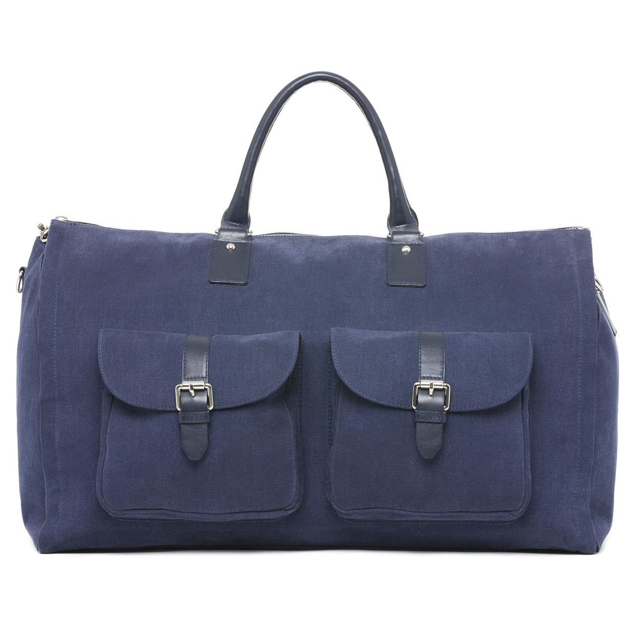 256e2d5d2858 Waxed Canvas Garment Weekender Bag - Navy - HOOK   ALBERT