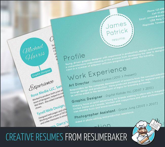 Brilliant New Resume Design Service by ResumeBaker CV2014 - resume design service