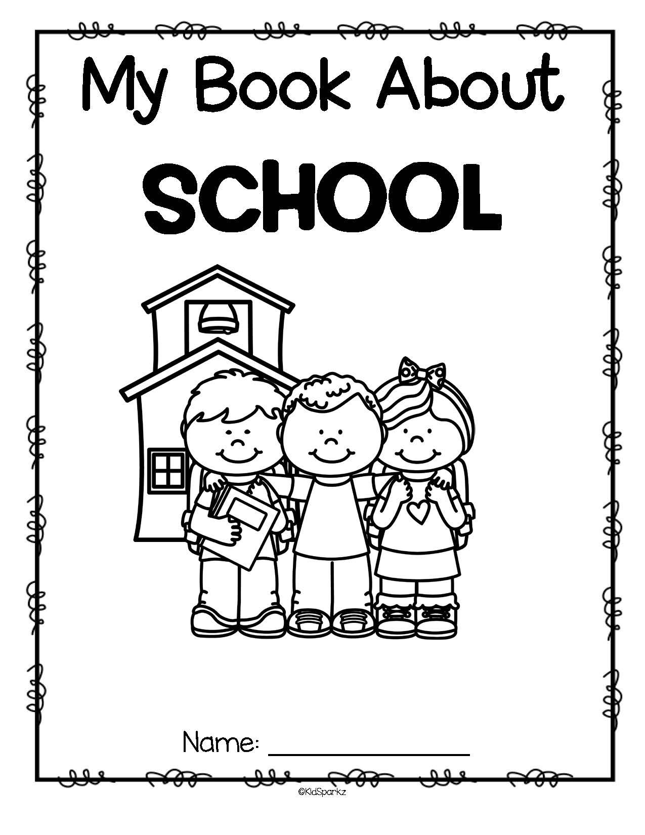 Back to School Draw and Color Book Activity Printables