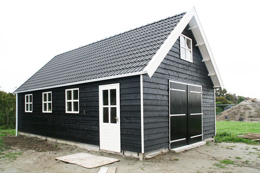 G9 mooie garage 1000x500cm dubbelwandig houtskelet for Prefab garage california