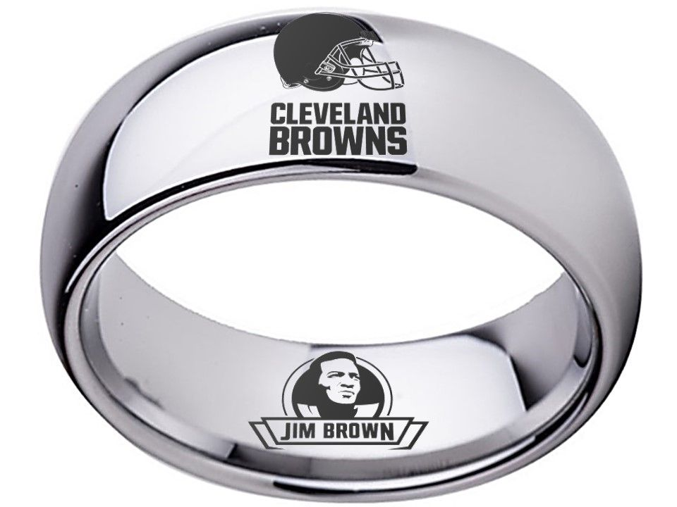 Jim Brown Dating >> Cleveland Browns Ring Jim Brown Ring Silver Ring 8mm