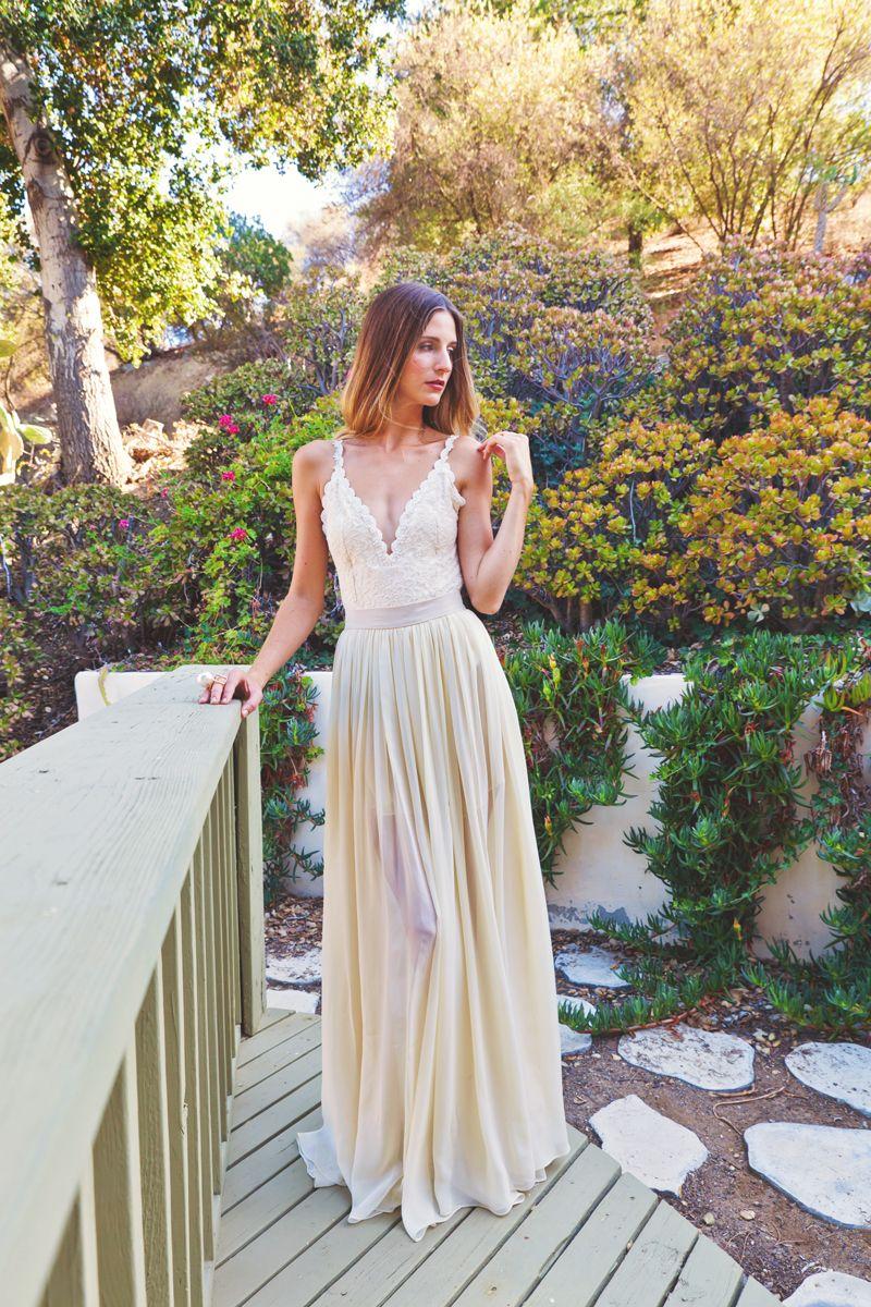 Bianca backless piece dress wedding pinterest gowns wedding