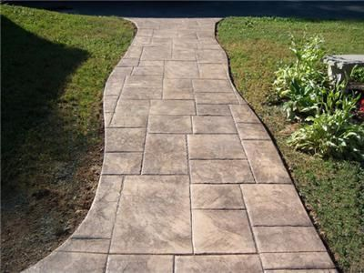 Stamped Concrete Walkway Outdoor Spaces Pinterest Stamped Concrete Walkway Concrete