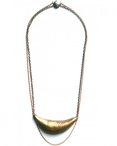 VINTAGE BRASS LONG NECKLACE by Dirty Librarian Chains