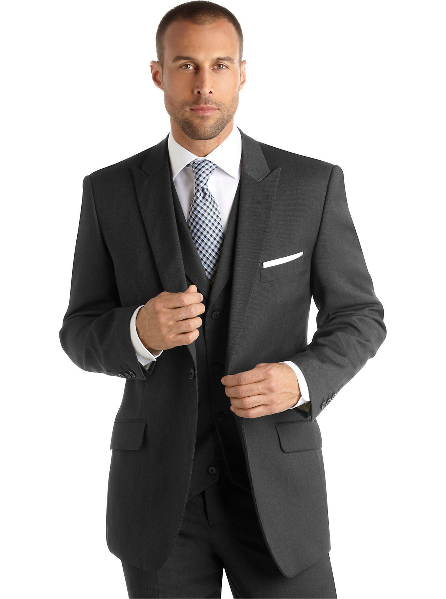 Suits u suit separates english laundry charcoal stripe vested suit