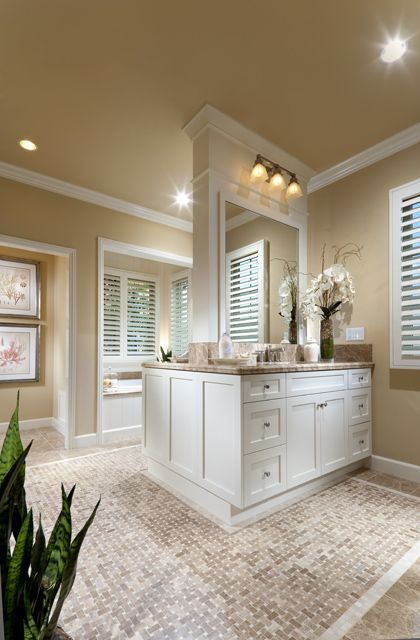 I Like The His And Her Sinks Are Not Next To Eachother But That They Have Their Own Space Bathrooms Remodel Bathroom Design Bathroom Layout