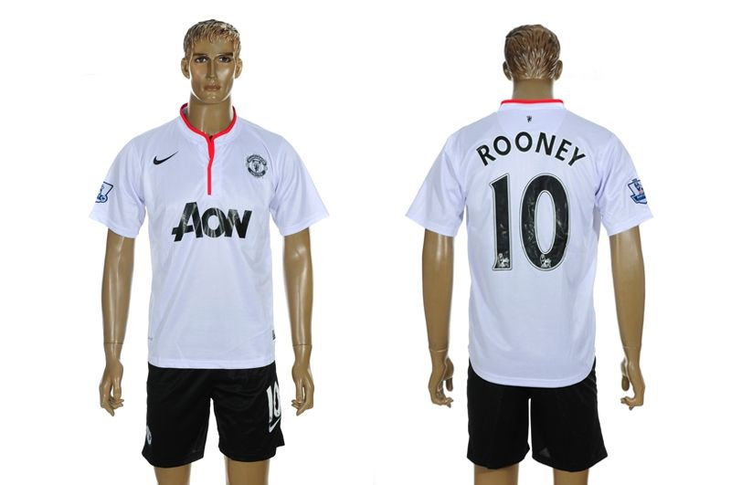 2012 2013 manchester united rooney 10 home white soccer jersey worldsoccerforsale