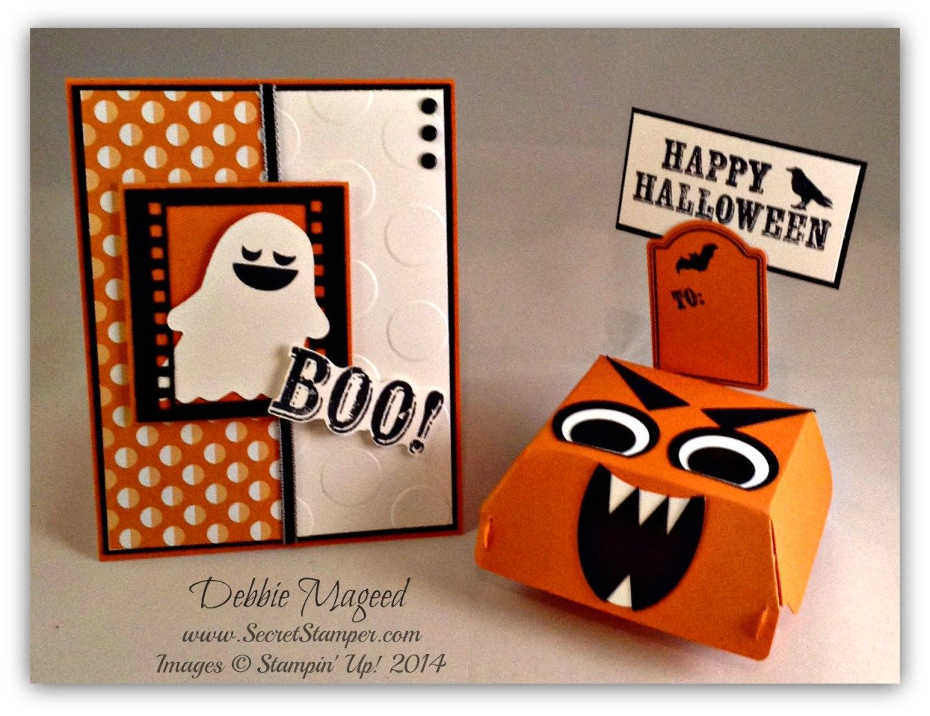 Fall Fest, Paper Pumpkin October 2014, On Film Framelits, Sweet Taffy DSP, Hamburger Box Die