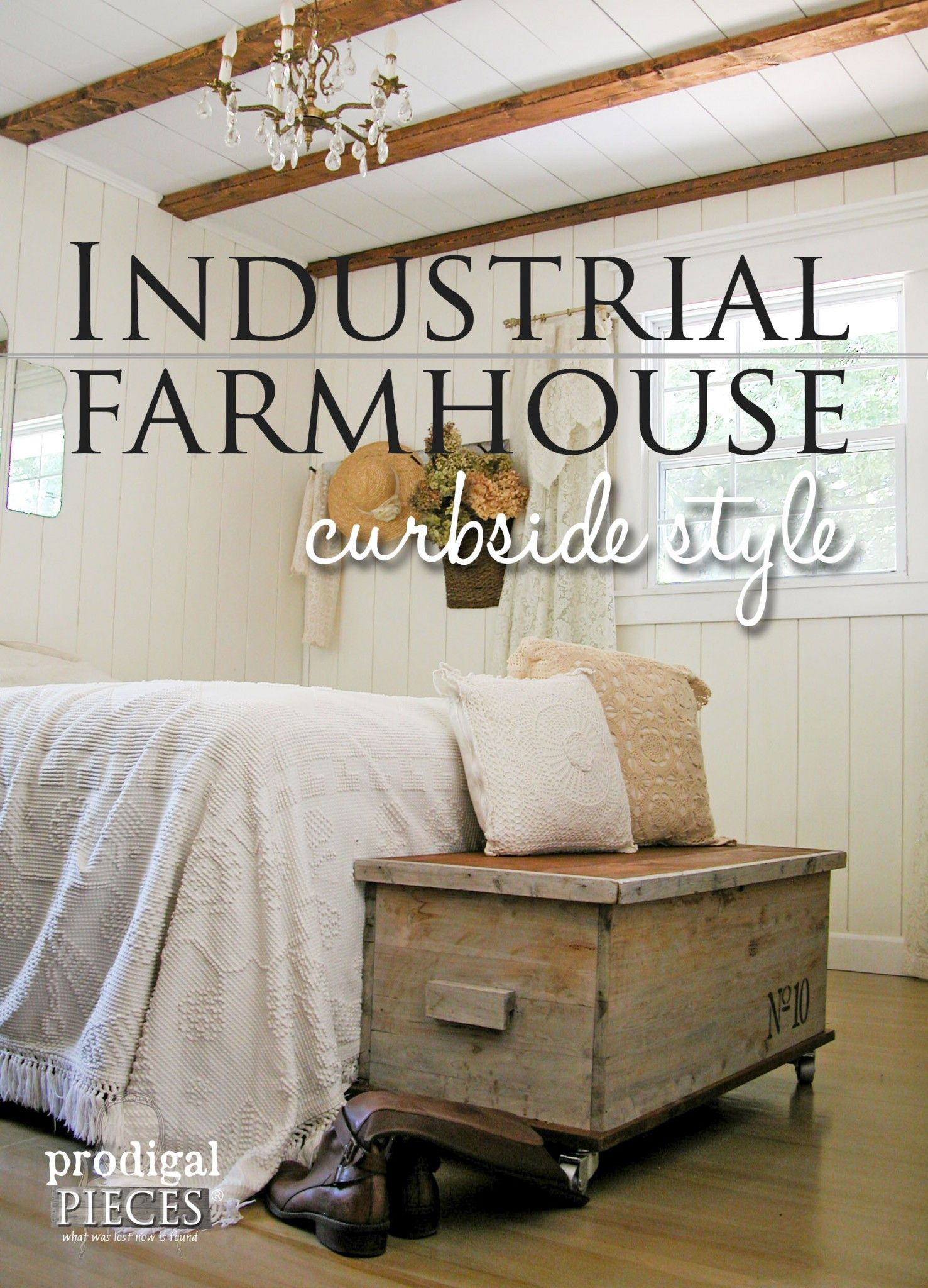 Cedar Chest from Trash to Treasure | Industrial style, Industrial ... for Industrial Farmhouse Bedroom  557yll