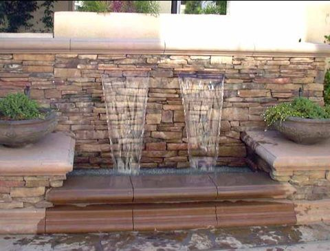 How To Decorate A Waterfall Wall Hanging Over Pool | Outdoor Waterfall  Fountain