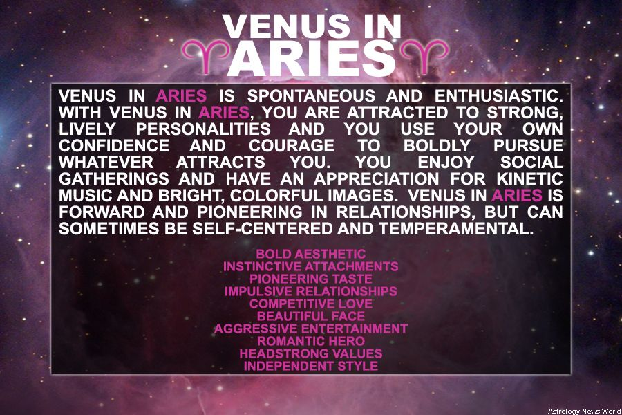 Venus in ARIES AstroConnects | Venus in aries, Small