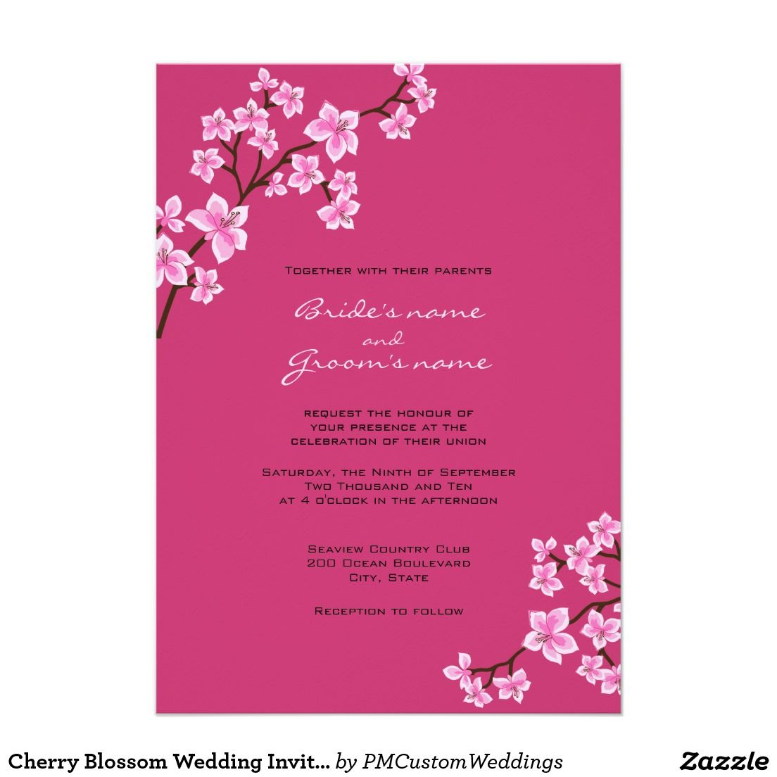 Cherry Blossom Wedding Invitations: Cherry Blossom Wedding Invitation Kit At Reisefeber.org