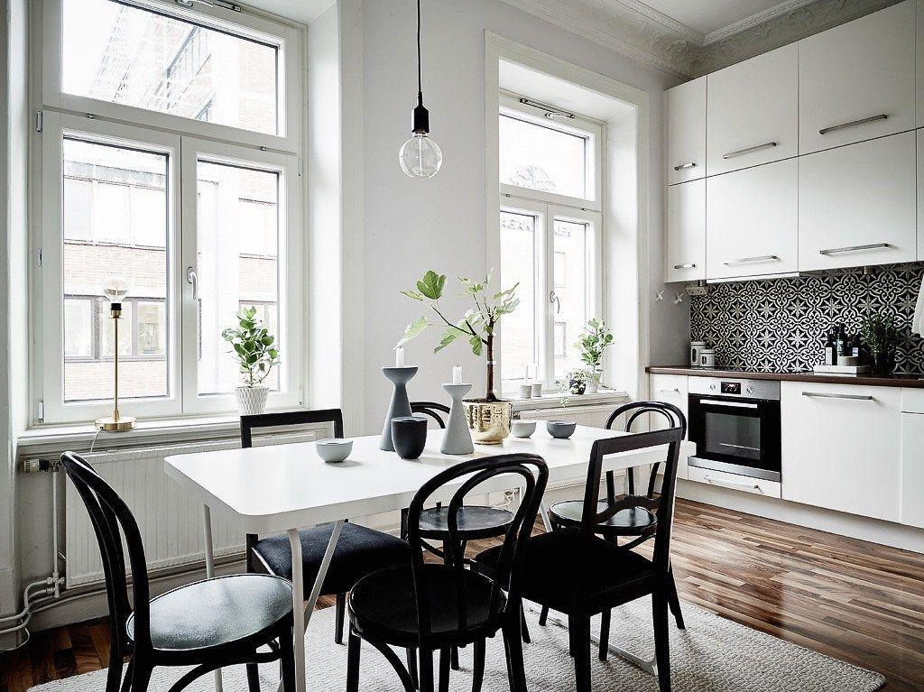 blanco y negro, sobrio y elegante | decoracion pisos pequeños
