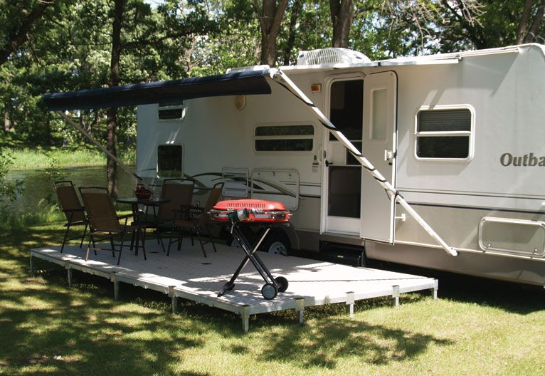 Travel Trailer With Deck Patio