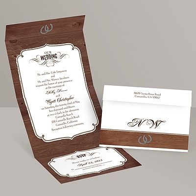 Rustic Wedding Seal And Send Invitation Invitations By Dawn Cowboy Wedding Invitations Western Wedding Invitations Buy Wedding Invitations