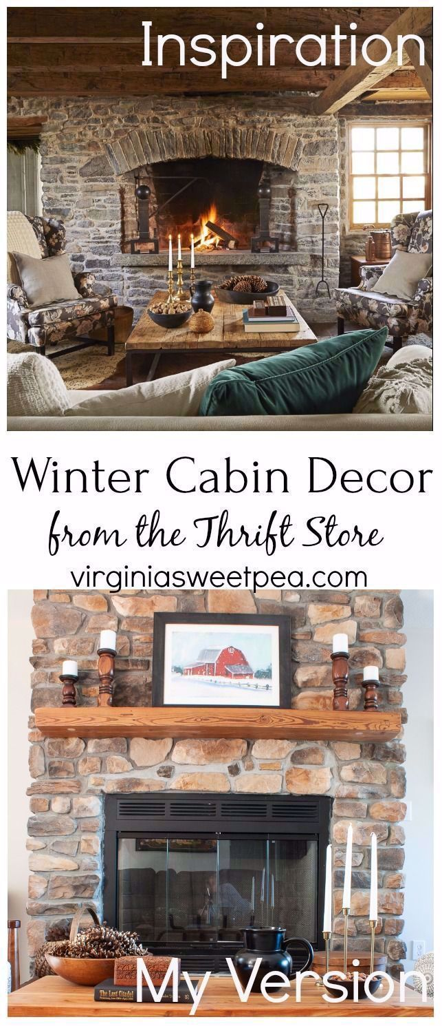 Winter Cabin Decor from Thrift Store - Learn How To Use Used ...#cabin #decor #learn #store #thrift #winter