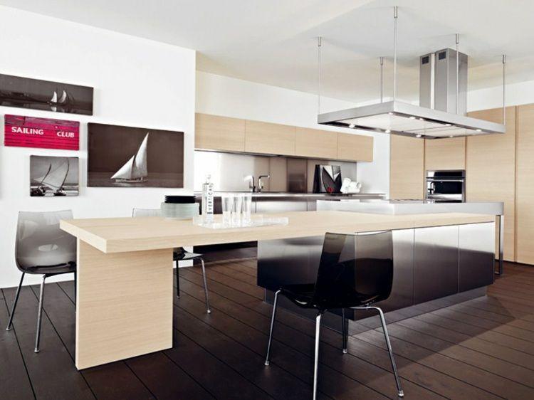 Aménager une cuisine design avec ilot central Design moderne - Cuisine Amenagee Avec Ilot