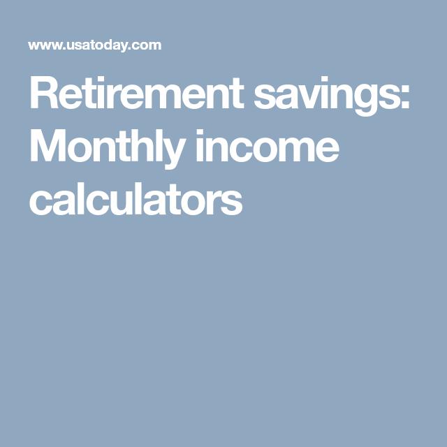 retirement income calculator excel