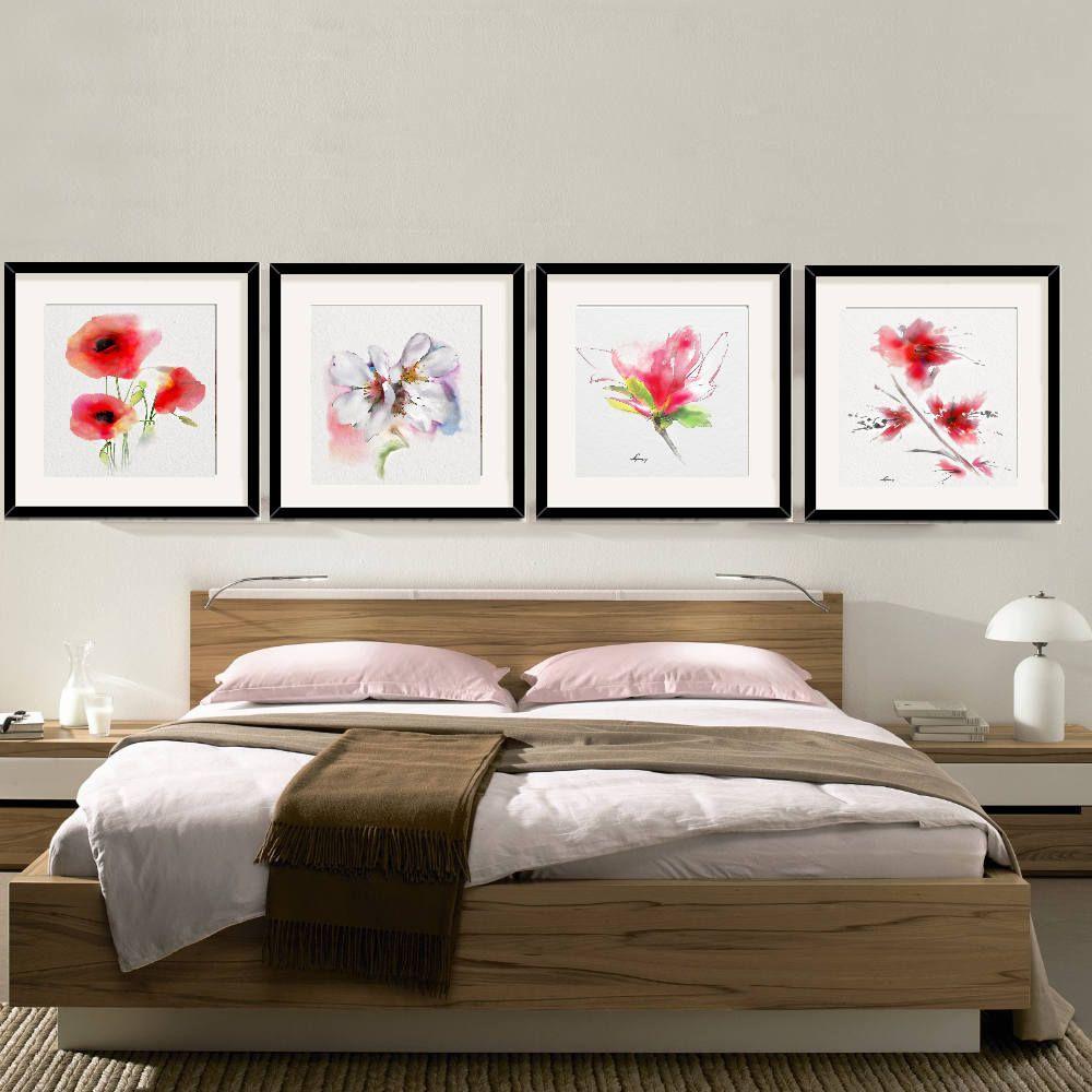 Flower wall art decor bedroom flower decor room set bedroom wall