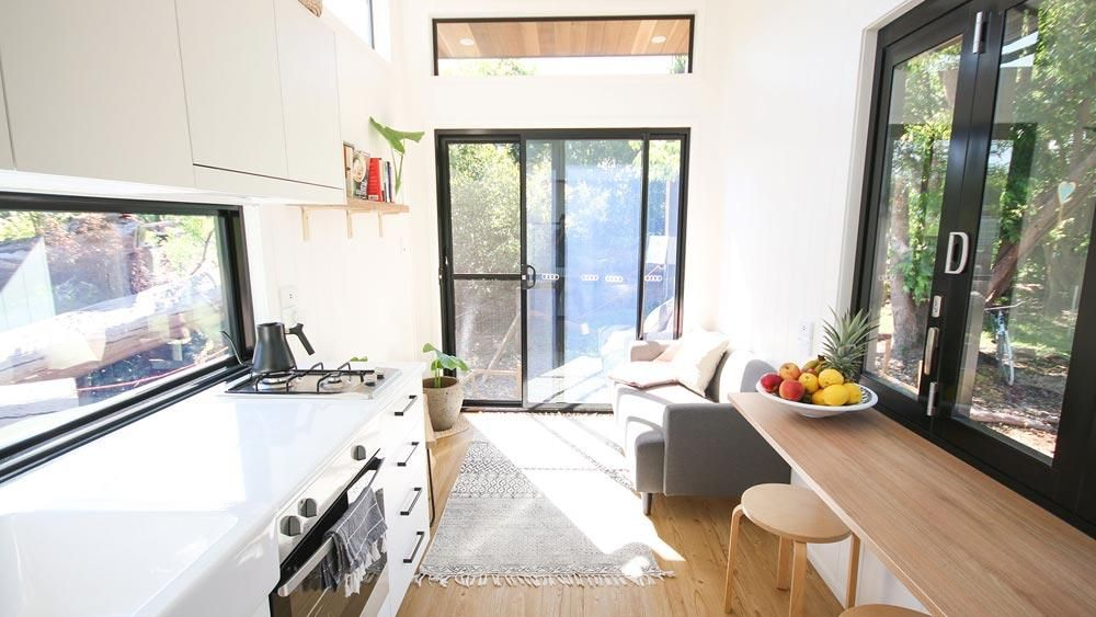 The Nugget An Adorable 100 Sqft Tiny House By Modern Tiny Living Tiny House Australia Tiny House Living Room Tiny House Living