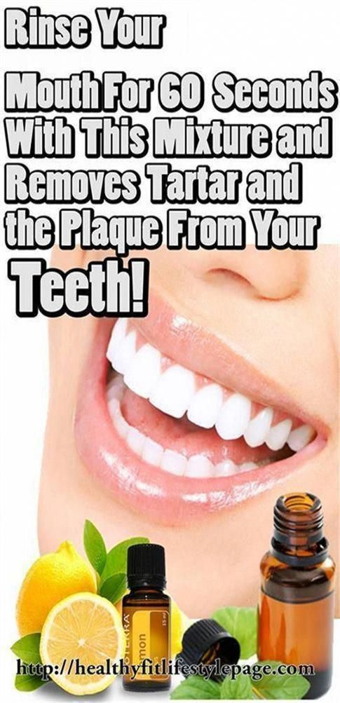 Rinse Your Mouth For 60 Seconds With This Mixture and Removes Tartar and the Plaque From Your Teeth!...