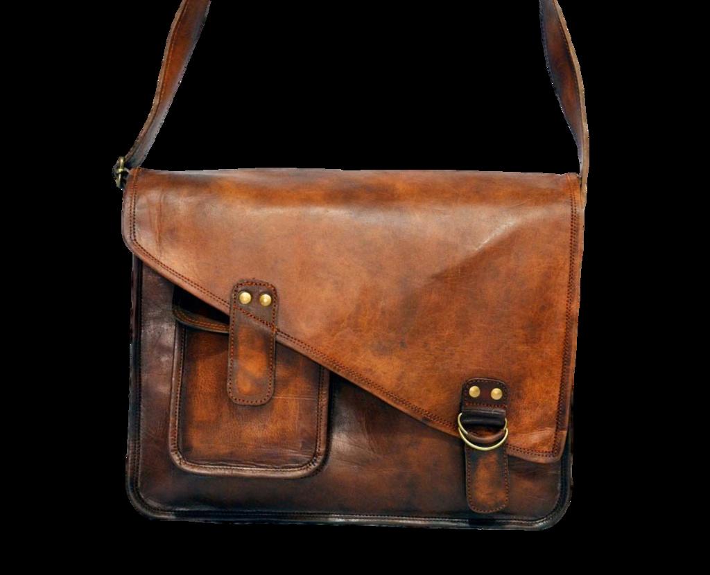 Vintage Leather Messenger Bag 15