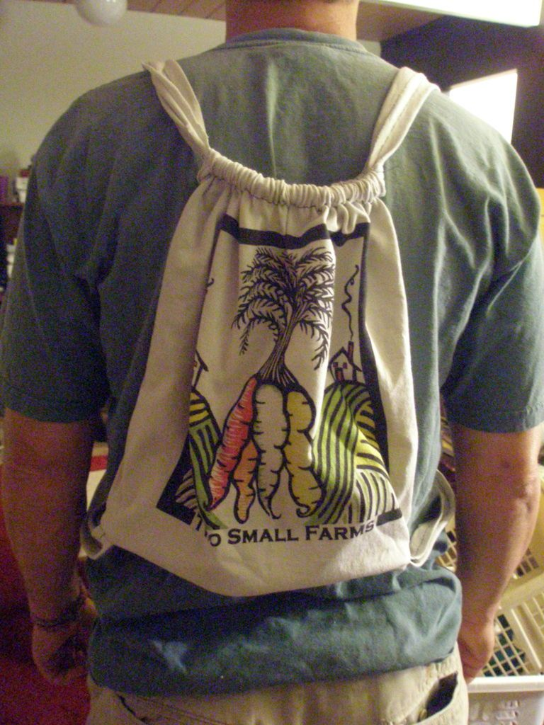 How to make backpack out of old t shirt