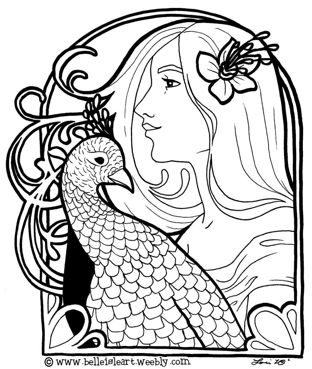 Charming Lori Lee Thomas   Fine Art U0026 Illustration Blog: My Love Of Art Nouveau And  Birds.