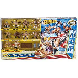 WWE Rumblers Blast and Battle Ring Deluxe Playset