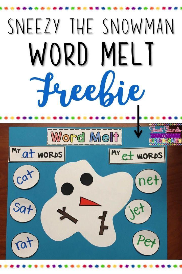 Sneezy the Snowman! Literacy Activities | Fun worksheets, Literacy ...