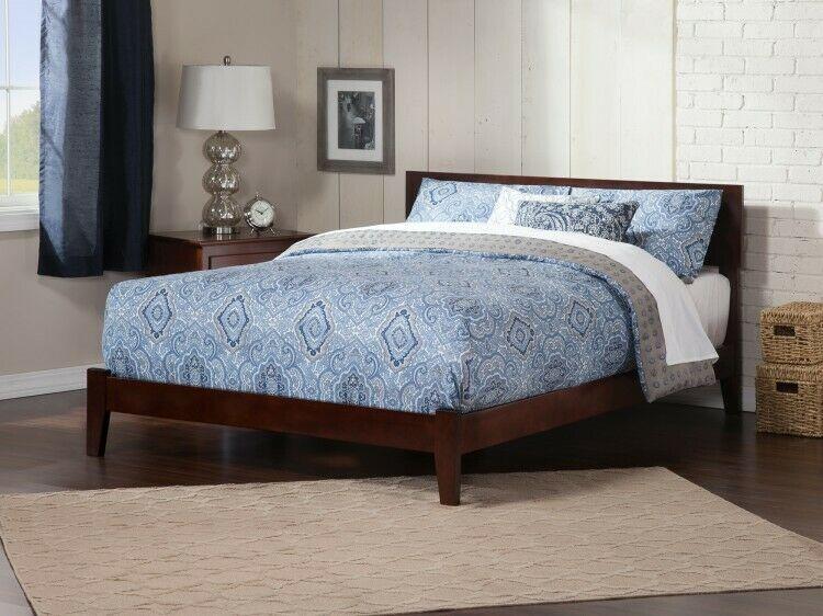 Details About Full Wooden Bed Espresso Bedframe Indoor Headboard Modern Bedroom Furniture Atlantic Furniture Traditional Bed King Platform Bed