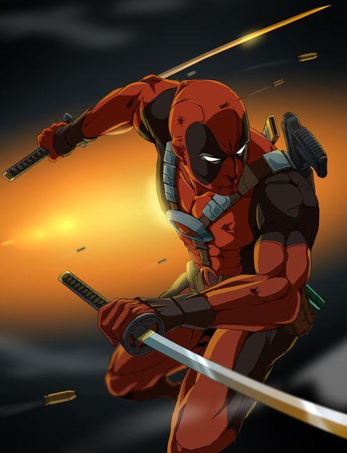 Anime Deadpool Deadpool Character Superhero Comic Marvel Deadpool