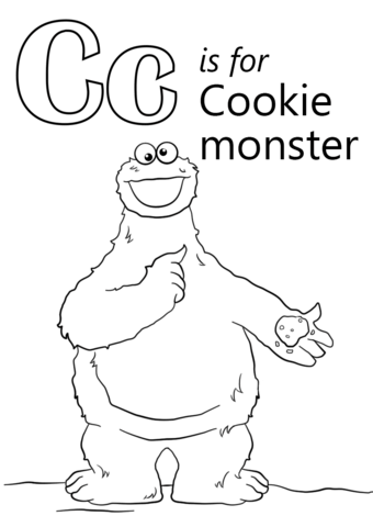 Letter C is for Cookie Monster coloring page from Letter C ...