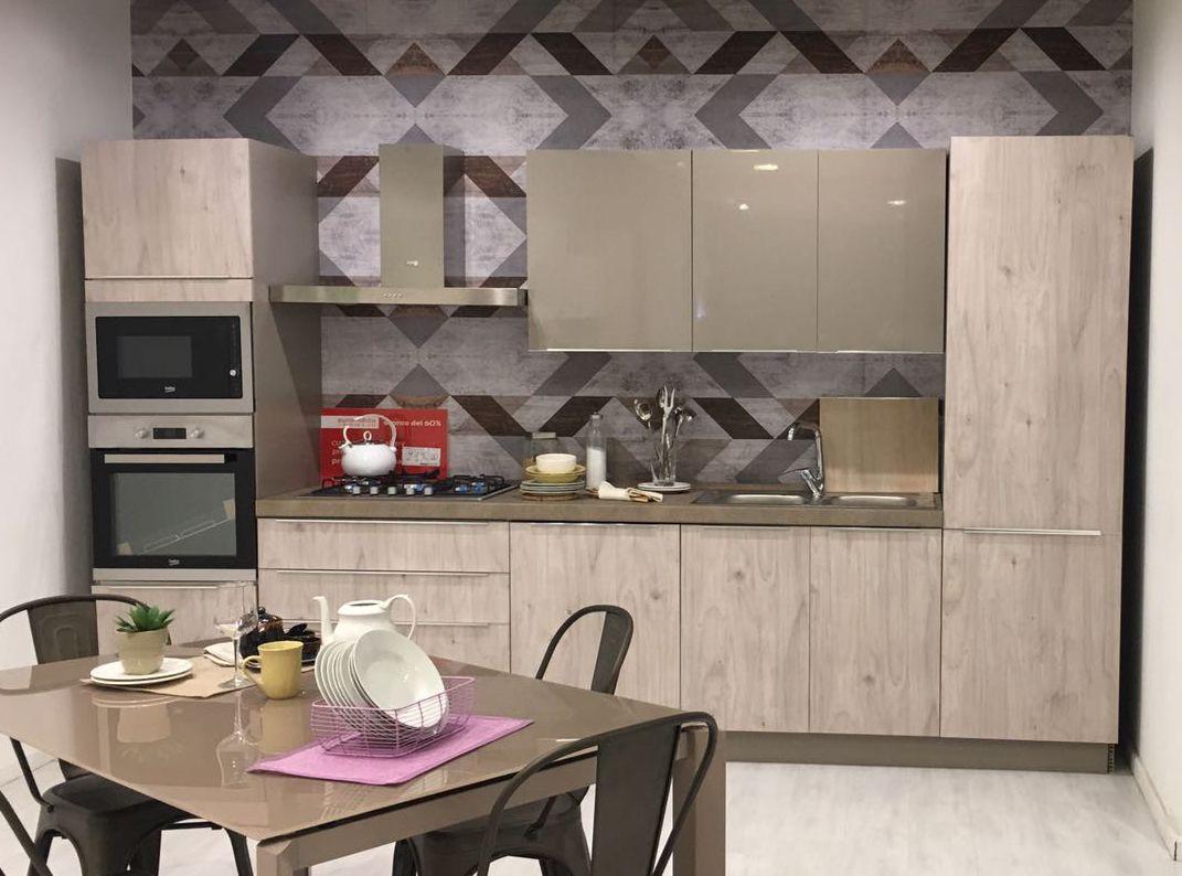Offerta Fino Al 30 Luglio Creo Kitchens By Lube Mya Cm 360 Completa Di Frigo Congelatore Piano Cottura Da 75 Cm Piani Cottura Arredamento Mobili
