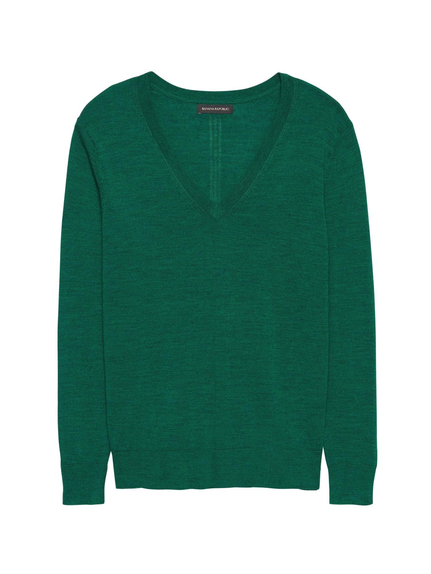 f0cdc99d965 Washable Merino Wool Boyfriend V-Neck Sweater in 2018