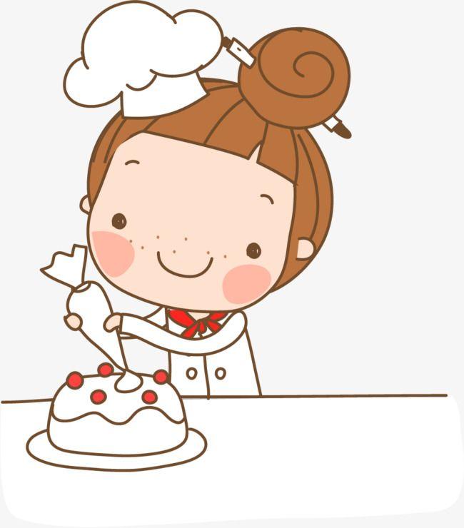 كرتون كيك مرسومة باليد فتاة فتاة الكرتون من ناحية رسم فتاة جعل كعكة فتاة Png والمتجهات للتحميل مجانا Cartoon Clip Art Stick Figure Drawing Cute Doodles