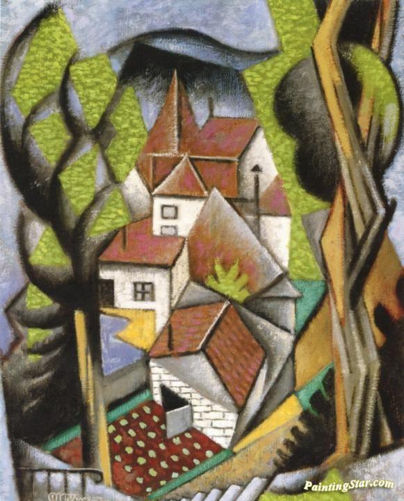 Cubist Landscape Artwork by Jean Metzinger | Cubismo, Pinturas, Arte