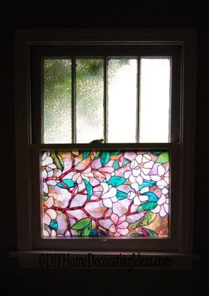 bofeifs non adhesive window film cobblestone no glue 3d.htm stained glass window film in bathrooms  with images  stained  stained glass window film in bathrooms