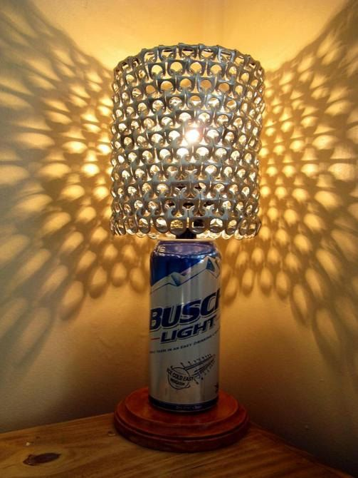 Busch Light Beer Can Lamp With Pull Tab Lamp Shade by ...