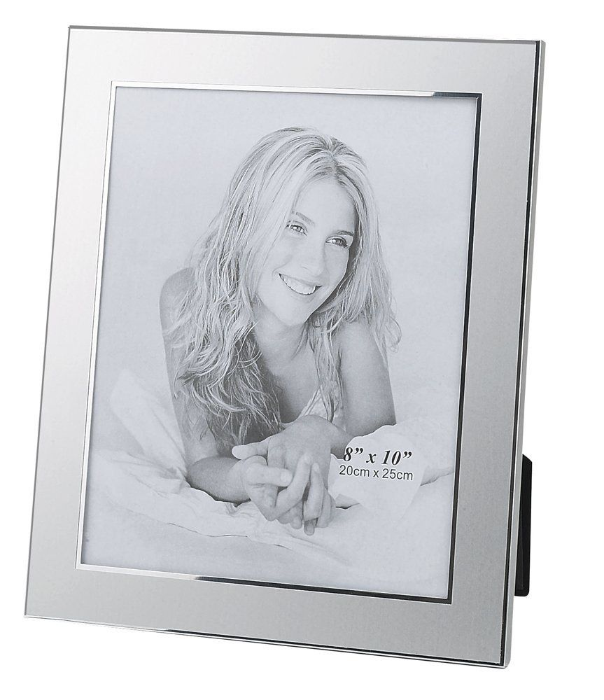 Upper Gifts Silver Metal 8 X 10 Picture Frame 2 Tone Brush Silver Finish With Shiny Inlay Want To Know More Picture Frames Frame Picture Frame Display