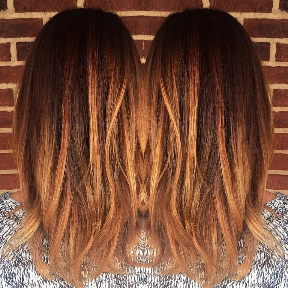 blonde caramel balayage warm copper color melt. Black Bedroom Furniture Sets. Home Design Ideas