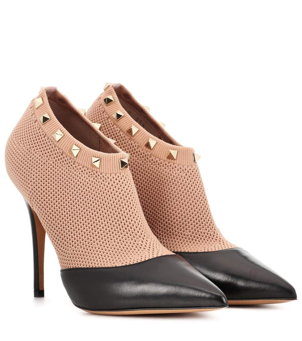 Valentino Pony-style Calfskin Ankle Boots